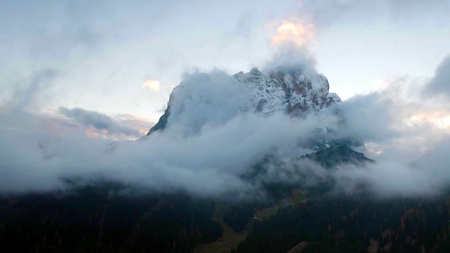 Autumn landscape with bright colors at Dolomites, Italy. Stok Fotoğraf