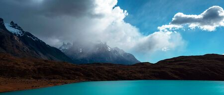 Beautiful panoramic view of the Andes and landscape in South America. Stock fotó - 130116089