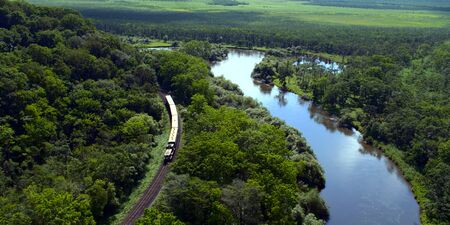 Kushiro City, Hokkaido, Shirautoro swamp and Kushiro wetlands Stock fotó - 130116108