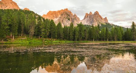 Autumn landscape with bright colors at Dolomites, Italy Stock fotó