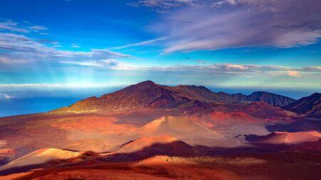 Beautiful scene on Haleakala volcano, Maui island, Hawaii Stock fotó - 130116229