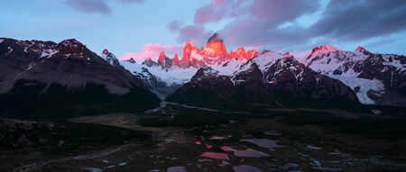 Beautiful panoramic view of the Andes and landscape in South America. Stock fotó - 130116299