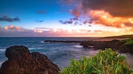 Beautiful scene on Haleakala volcano, Maui island, Hawaii Stock fotó - 130116471