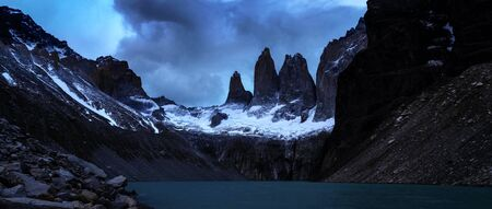 Beautiful panoramic view of the Andes and landscape in South America. Stock fotó - 130116476