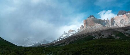 Beautiful panoramic view of the Andes and landscape in South America. Stock fotó - 130116478