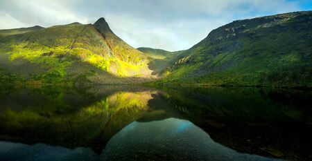 Lofoten islands is an archipelago in the country of Nordland, Norway Stock fotó - 130116564