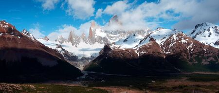 Beautiful panoramic view of the Andes and landscape in South America. Stock fotó - 130117189