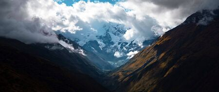 Beautiful panoramic view of the Andes and landscape in South America. Stock fotó - 130117276
