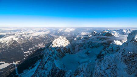 Wetterstein Mountains in winter, close Garmisch, Upper Bavaria, Bavaria, Germany Stock fotó