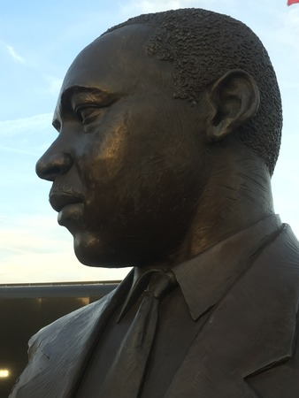 Statue of Rev. Martin Luther King Jr. in West Palm Beach, FL.