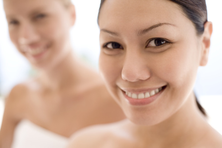 complementary therapies: Women relaxing at a spa