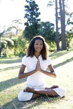 sitting on the ground: Meditation