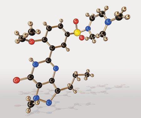 Viagra drug molecule LANG_EVOIMAGES