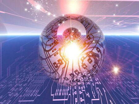 Electronic world, artwork LANG_EVOIMAGES