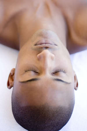 complementary therapies: Man relaxing at a spa