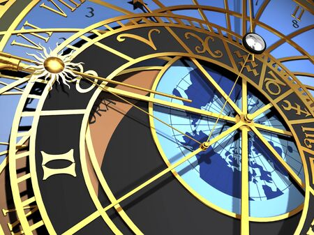 Astronomical clock, artwork