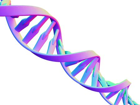 helical: DNA molecule, computer artwork