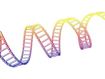 helical: DNA molecule, artwork