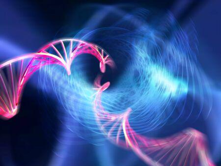 to encode: DNA molecules, computer artwork