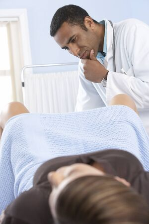 gynaecology: Gynaecologist during an examination