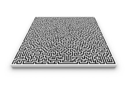 bewildered: Maze, computer artwork LANG_EVOIMAGES