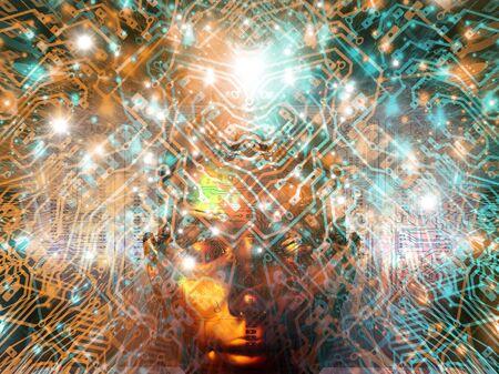 Artificial intelligence, artwork LANG_EVOIMAGES