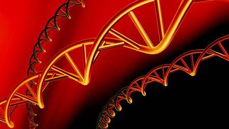 DNA molecules, conceptual artwork
