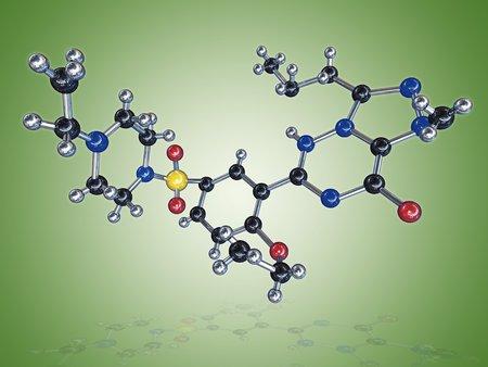 Levitra drug molecule LANG_EVOIMAGES