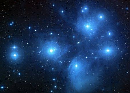 the pleiades: Pleiades star cluster (M45)