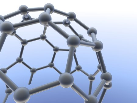 allotrope: Buckminsterfullerene molecule LANG_EVOIMAGES