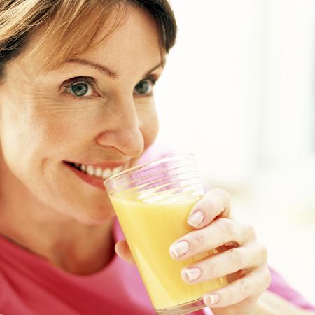 ascorbic acid: Drinking orange juice