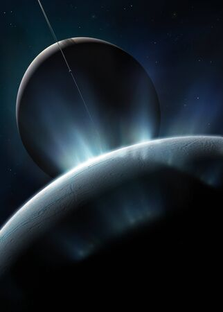 enceladus: Enceladus,computer artwork