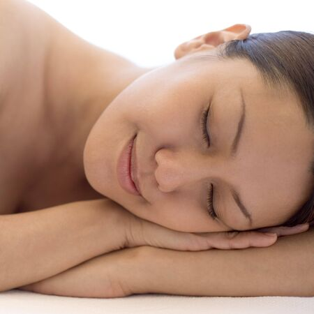 complementary therapies: Woman relaxing