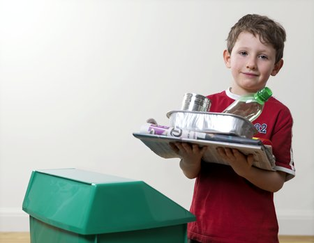 reciclable: Recyclable household waste