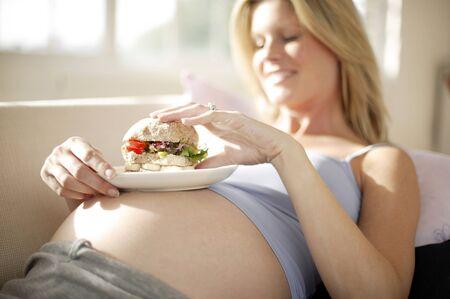 cravings: Pregnant woman eating