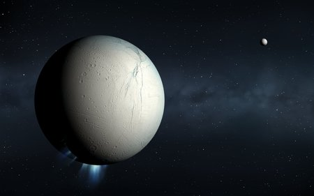 enceladus: Plumes erupting from Enceladus LANG_EVOIMAGES