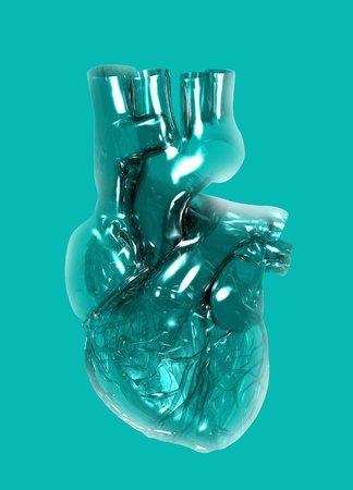 Plastic artificial heart,artwork
