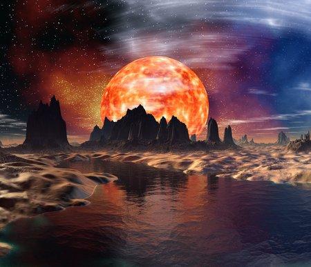 habitable: Alien planet,artwork