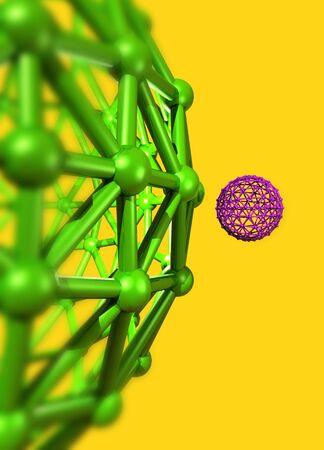 allotrope: Buckyball molecules,artwork