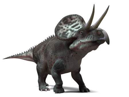 Zuniceratops dinosaur,computer artwork.This dinosaur lived approximately 90 million years ago during the Turonian age of the Late Cretaceous period LANG_EVOIMAGES