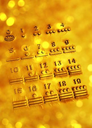 Maya numerals,computer artwork LANG_EVOIMAGES