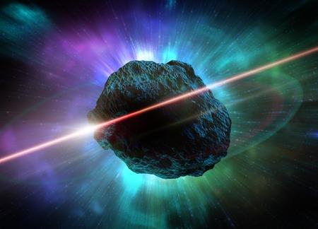 Meteor in space,computer artwork