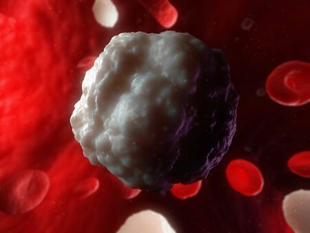 immunological: White blood cell,computer artwork
