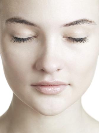 impassive: Healthy womans face LANG_EVOIMAGES