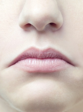 nostril: Unhappy womans mouth LANG_EVOIMAGES