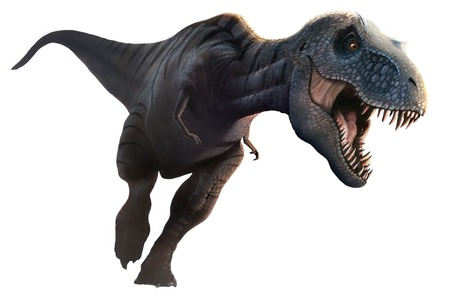 Tyrannosaurus rex is arguably the most famous dinosaur of all.It lived during the last 5 million years of the Cretaceous period,70-65 million years ago,in what is now North America.An active hunter and possibly also an opportunistic scavenger,Tyrannosauru