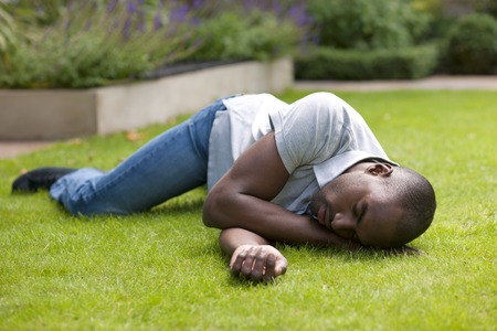 Man in recovery position