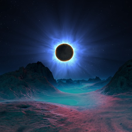 extra terrestrial: Solar eclipse in alien planetary system LANG_EVOIMAGES