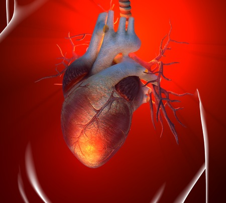 Heart attack,conceptual computer artwork