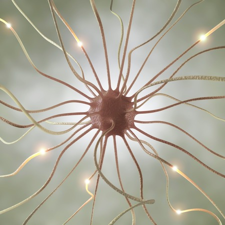 neurone: Nerve cell,computer artwork